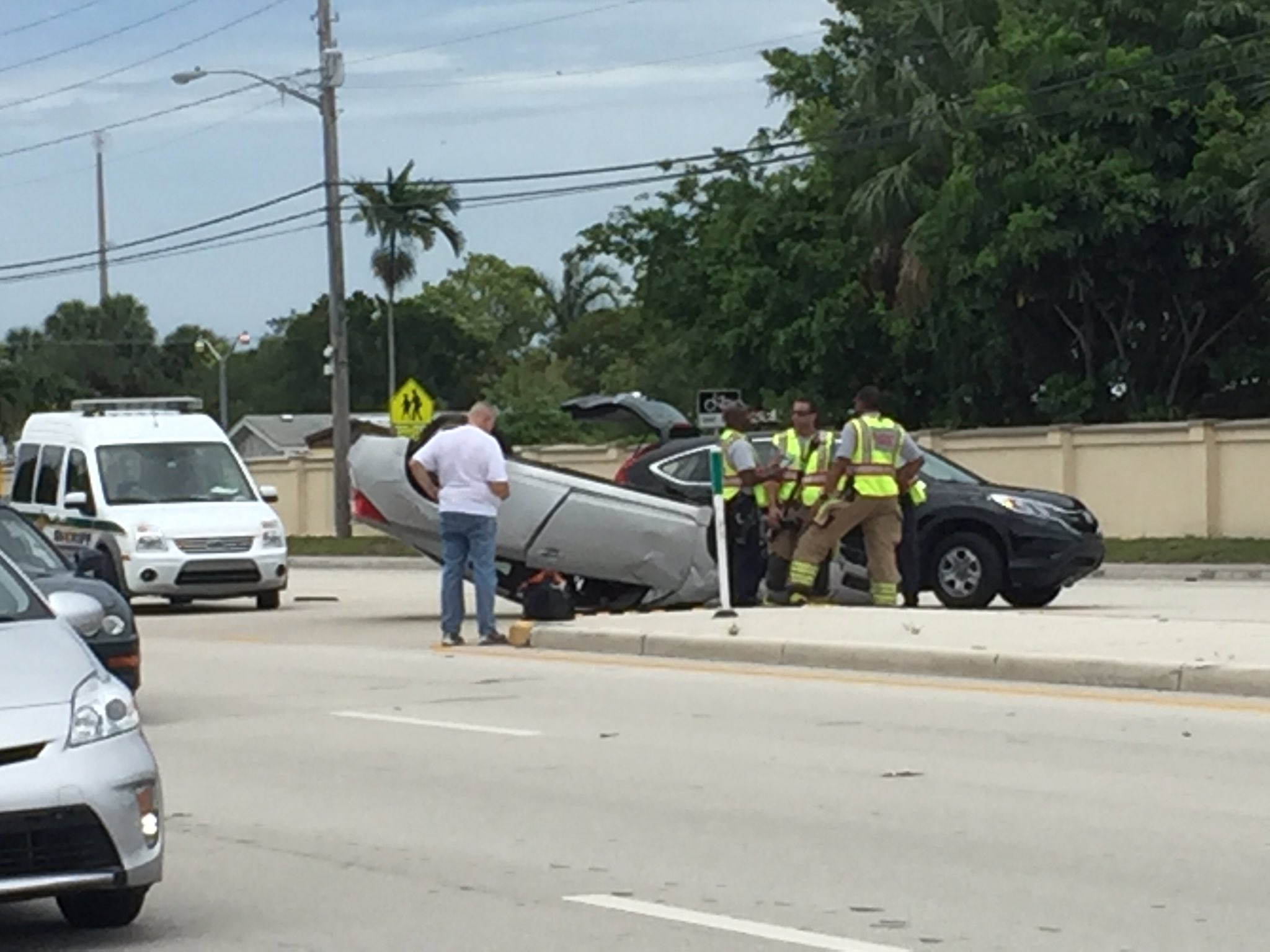 Crews on scene of vehicle crash in Riviera Beach
