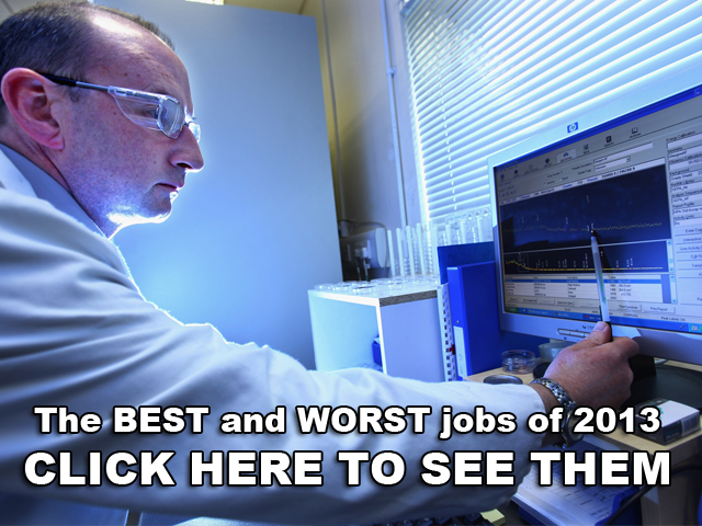 The best and worst jobs of 2013