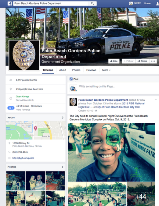 Palm Beach Gardens Police Remove Facebook Posts On Officer Invol Fox29 Wflx Tv West Palm