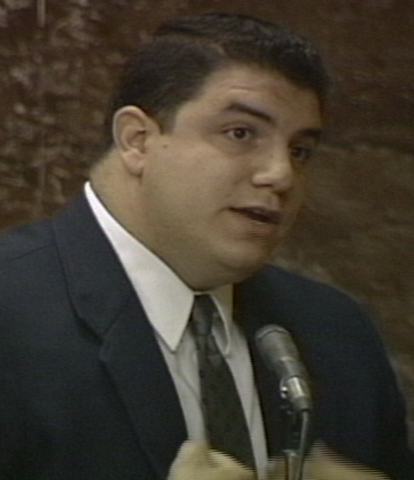 Vincent Tuzeo testifies during his trial in 1994. (FILE PHOTO)