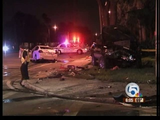 Deadly car crash in Delray Beach