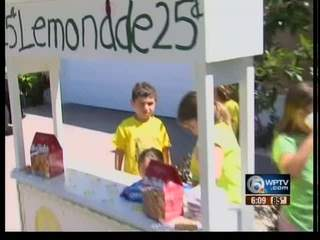 Curtailed kids lemonade stand