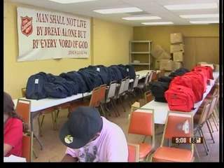 400 backpacks doled out to kids in need