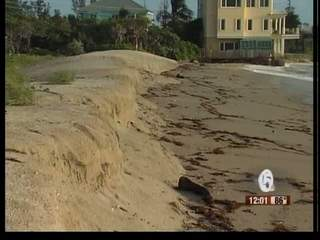Possible beach erosion from Irene in Bathtub Beach