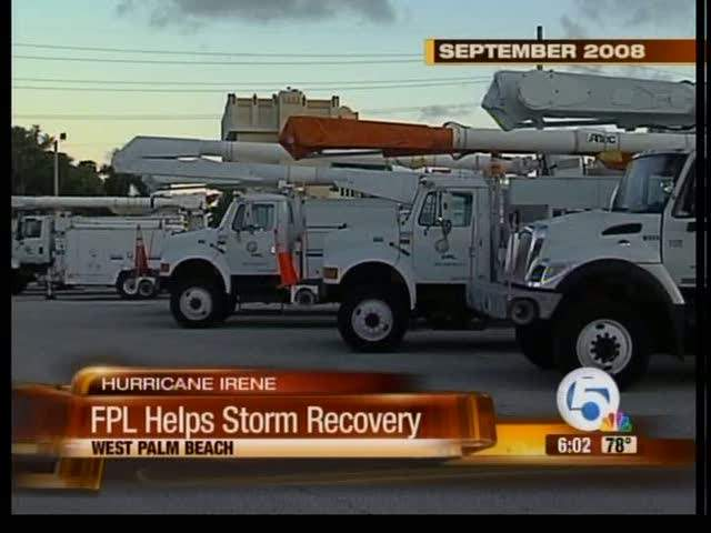 FPL sending support crews to the northeast 08/27/11