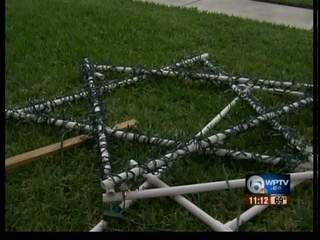 Hate crime? Family's decorations trashed