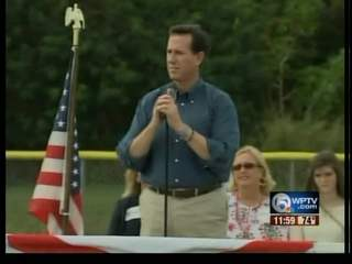 Rick Santorum meeting voters in Stuart