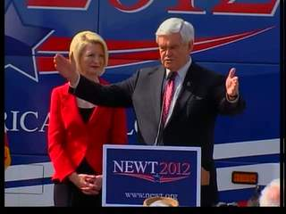 Newt Gingrich meet voters in Coral Springs