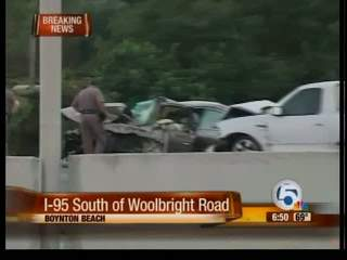 One person has died in car accident on I-95