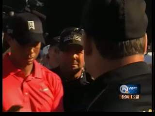 Tiger Woods comes close to win