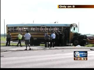 Children on bus during crash recall accident