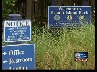 Alcohol banned on Peanut Island