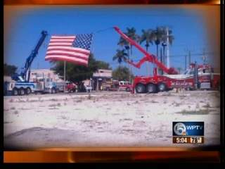 Tow trucks pay tribute
