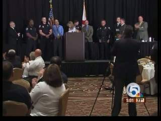 Police officers, investigators honored in Palm Beach Garden