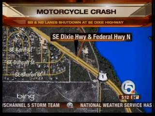 Motorcycle accident in Hobe Sound closes SE Dixie Highway