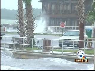 Wind, rain batter Cedar Key