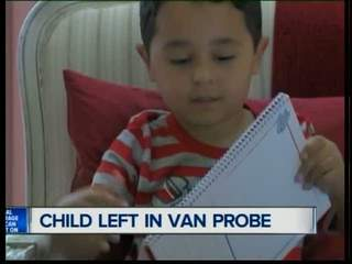 Child reportedly left in van for couple of hours