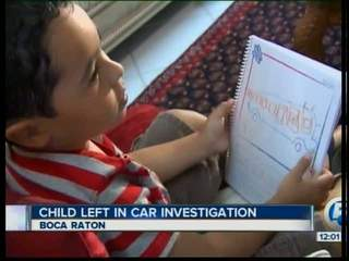 Mother alleges son left in hot van for hours