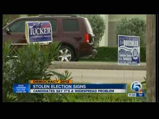 Dist. 18 election signs stolen, damaged
