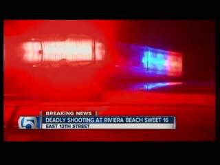 Fatal shooting in Riviera Beach