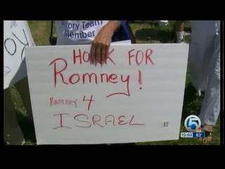Republican Jewish Coalition protest Obama