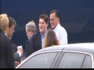 Romney departing South Florida