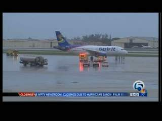 Spirit Airlines jet lands safely at PBIA