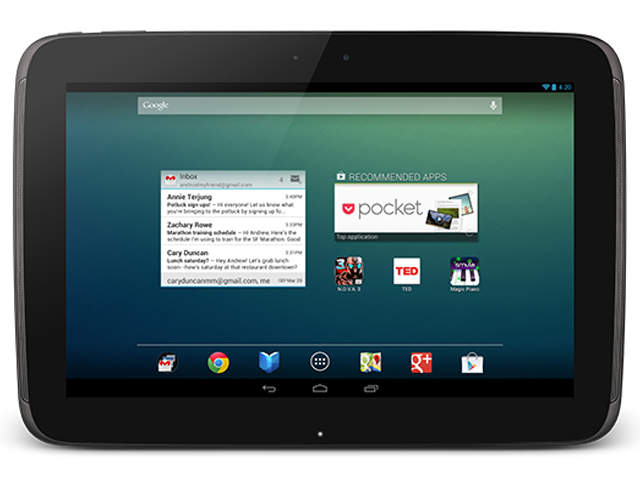 Built by samsung but sold by google the nexus 10 is a 16 9 tablet