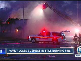 Family loses tire business to fire