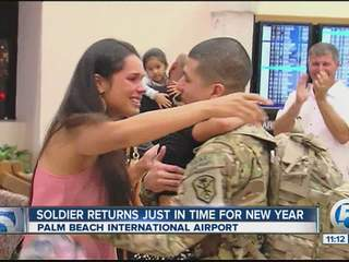 Local soldier comes home
