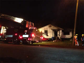 WPTV Belle Glade house fire truck 2