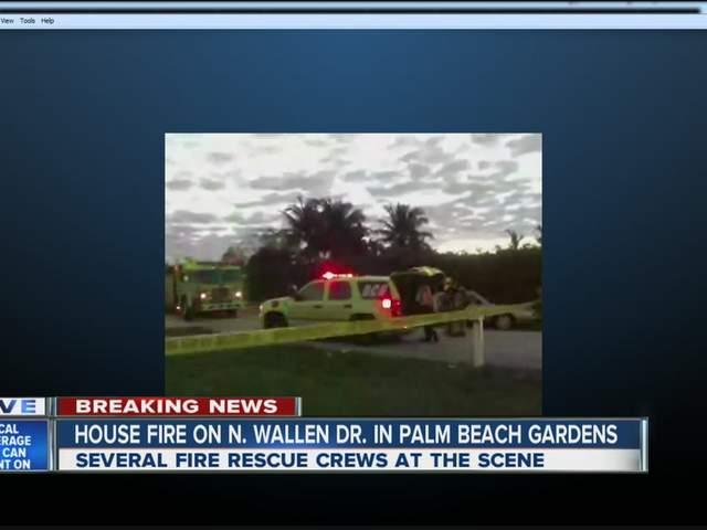Palm Beach Gardens House Fire Flames Smoke Damage Home On North Wallen Drive