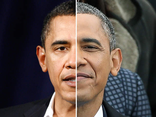 Obama age photo: President goes gray, ages in 2009 to 2013 photo ...