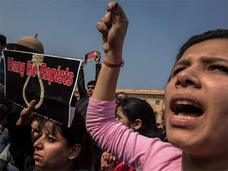 WPTV India rape protests New Delhi protesters