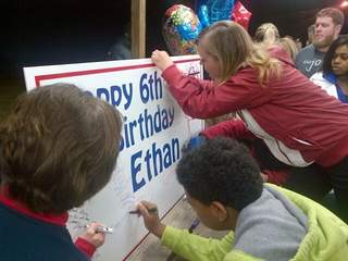 WPTV Kids sign Ethan birthday card