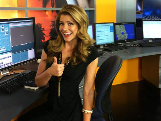 Beautiful meteorologist Kait Parker