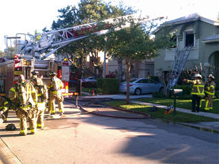 WPTV West Palm Beach fire Chagall Circle