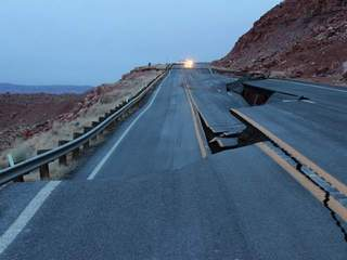 WPTV Arizona highway cracked