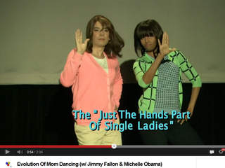 Jimmy Fallon Michelle Obama Evolution of mom dancing