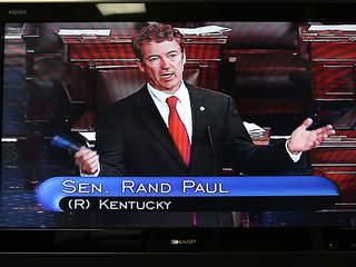Rand Paul filibuster video 2013: Paul speaks for 13 hours ...