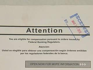 postcards advising foreclosure victims of award money could be