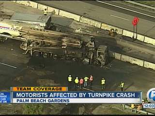 Turnpike Accident Palm Beach Gardens
