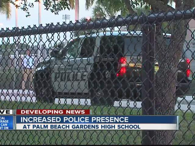 Palm Beach Gardens High School Adds Extra Security After Reports Of 39 Rumors 39