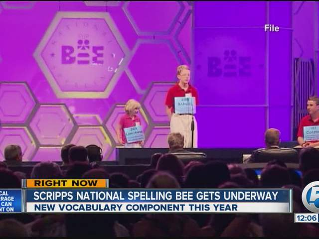 2013 National Spelling Bee introduces vocabulary component, students