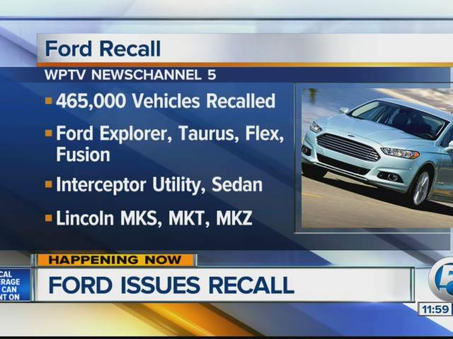 Ford Issues Recall On Vehicles
