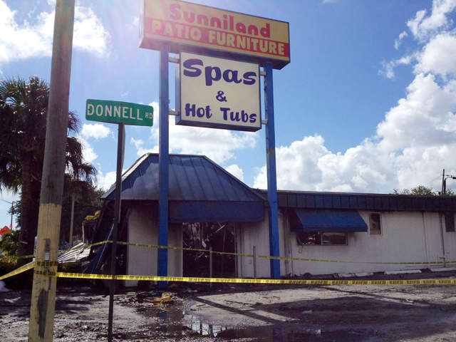 Sunniland Patio Furniture Cause of store fire accidental