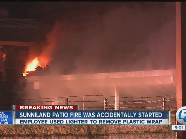 Sunniland Patio Furniture Cause of store fire accidental wptv