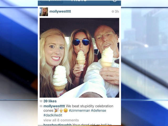 WPTV Molly West instagram Zimmerman trial