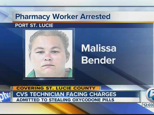 malissa bender pharmacy tech charged with taking