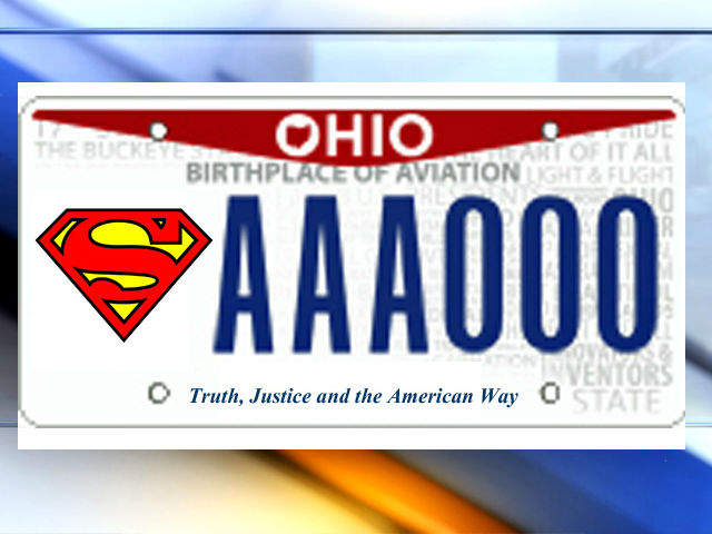Superman License Plates Available For Ohio Drivers